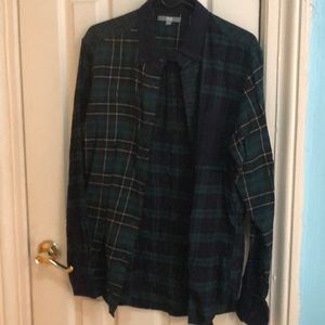 Green plaid shirt flannel